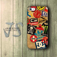 Skateboard Logos DC Vans Globe Adidas Etnies iPhone Case 4 4s 5 5s 5C