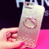 Hard Case iPhone 4/4s 6 6+ Hello Kitty C**nel Love Mask elegan manik