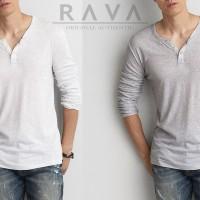 Jual Baju Kaos Pria Henley Lengan Panjang ORIGINAL by RAVA (BEST SELLER) Murah