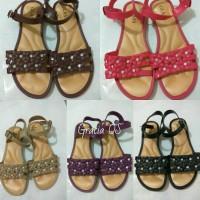 Jual Jelly Shoes Premium Flower Diamond - Sepatu import - Sepatu murah Murah