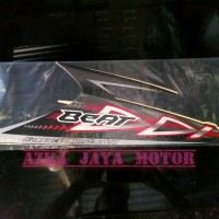 striping / sticker Honda Beat karbu tahun 2012 Hitam