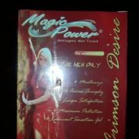 tisu magic power for men only crimson desire 1box isi 6 sachet