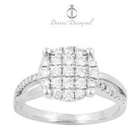 Cincin Berlian Emas Kawin Tunangan Pernikahan Wedding Ring - LRP2-3679