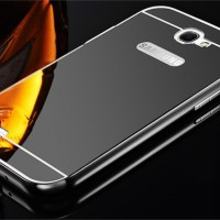 Casing Metal Bumper Mirror for Samsung NOTE 2