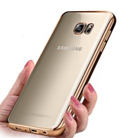 Samsung S3 S4 S5 S7 Edge casing softcase cover case SILICONE CHROME