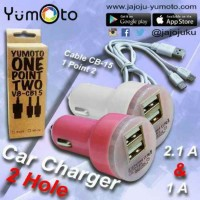 Jual Car Holder 2,1 A DOUBLE Output Charger Di Mobil +Kabel Charger Murah