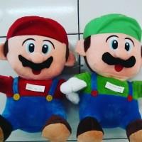 Boneka tokoh game nintendo situkang ledeng super mario bros &luigi SNI