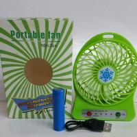 Kipas angin mini charger ( Recharger ) Baterai 18650 Li-ion