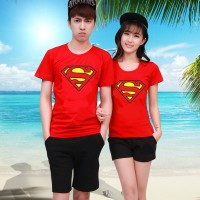 Harga baju kaos couple oblong fashion pasangan new supermen superman | Pembandingharga.com
