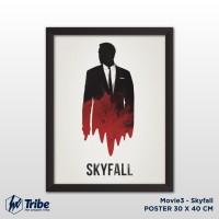 harga Poster 30 X 40 Cm / A3 + Frame Tanpa Kaca - Movie Skyfall Tokopedia.com