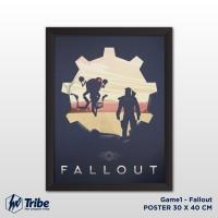 Poster 30 x 40 cm / A3 + Frame Tanpa Kaca - Game Fallout