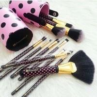 BH Cosmetics - Pink A Dot Brush Set isi 11 pcs