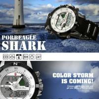uvbshop - jam tangan shark watch dual movement digital led analog