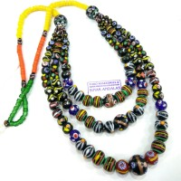 Harga kalung dayak manik labang tingkat 3 air mas batu fashion | Pembandingharga.com