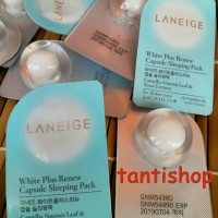 laneige white plus renew capsule sleeping pack || sleeping mask