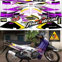 Jual Striping Satria 120 R limited edition (ungu) Murah