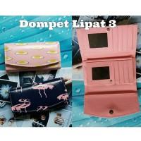 Custom Dompet Cewek Kulit Lipat 3 / Gambar Bebas Request