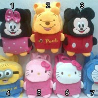 harga Import Tas Ransel Anak Boneka Minnie Mickey Pooh Minion Kitty Doraemon Tokopedia.com
