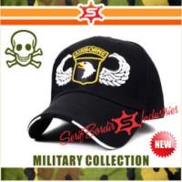 Topi pria US Airborne Militer topi bordir baseball topi golf topi teni