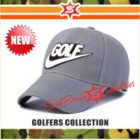 Topi Pria Nike Golf Topi Bordir Baseball Topi Golf Topi Tenis Abu-abu