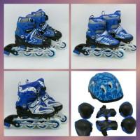 harga mainan anak sepatu roda helm decker pelindung lutut inline skate power Tokopedia.com