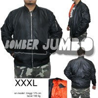 Jual Jaket Bomber Jumbo / Big Size XXXL - Hitam Murah