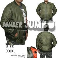 Jual Jaket Bomber Jumbo / Big Size XXXL - Green Army Murah