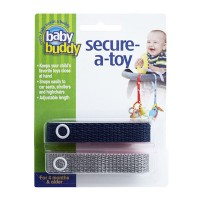 Baby Buddy Secure A Toy Navy/Gray