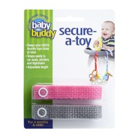 Baby Buddy Secure A Toy Pink/Gray