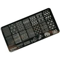 Bahan craft clay Stamping Nail art plate stencil motif scrapbook