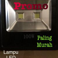Lampu LED sorot 100w COB 2mata outdoor indoor panggung WARM WHITE