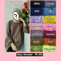 harga Jumbo Sweater Rajut Wanita Baju Atasan Outer Sweatshirt Cewek XXL-XXXL Tokopedia.com