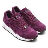Sepatu Casual Puma R698 Allover Suede Italian Plum Original Asli Murah