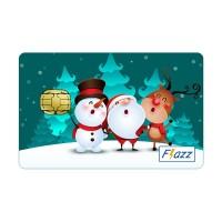 Jual BCA Flazz Santa Claus, Reindeer & Snowman (Natal / Christmas) (BARU) Murah