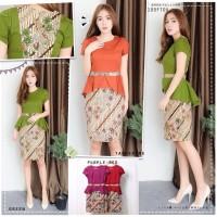 Batik Fashion Wanita Rosifa Twotone Ribbon