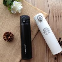 Starbucks Tumbler White Black /Thermos Bottles/ Vacuum cup Putih Hitam