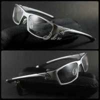 Frame Kacamata Baca Oakley Scalpel alloy Silver Hitam Murah