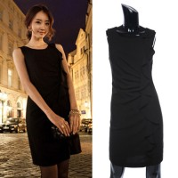 SIMPLE DRESS HITAM KOREAN STYLE IMPORT (3445)