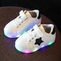 Jual Sepatu Lampu Anak - Star Shoes Led White Murah