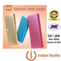 harga Xiaomi Premium Portable Subwoofer Bluetooth Speaker Stereo - Gold Tokopedia.com