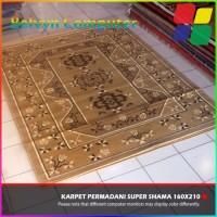 Karpet Permadani Lokal New Super Shama Motif 11 Brown 160x210cm