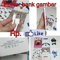 Power Bank Karakter 98000Mah Minion Doraemon Hellokitty Stich Panda