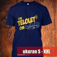 Kaos Baju Om Telolet Om By KF Group Bintang Lima Biru Dongker Navy