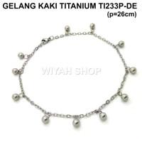 TI233P-DE Gelang Kaki Titanium Perhiasan Anti Karat
