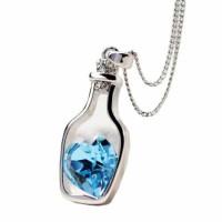 Kalung Liontin Cantik Crystal Heart