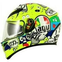 Helm Motor Full Face Fullface AGV K3 SV Rossi VR46 Groovy Original