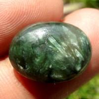 Batu Akik Seraphinite Bulu Macan