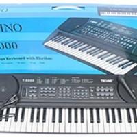 ALat Musik PIANO KEYBOARD TECHNO T 5000 layar LED + Microphone