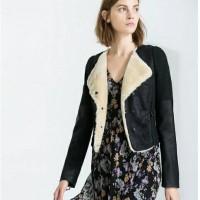 Jaket kulit Wanita Bulu