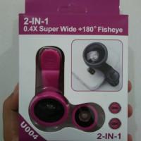 Lensa combo 2in1 superwide + fisheye buat HP murah